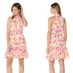 Betsey Johnson Floral Chiffon High Neck Dress